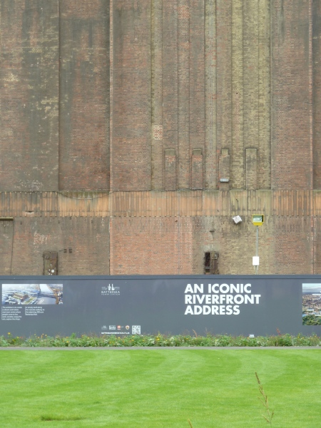 Battersea Power Station hoardings. Photograph: Kenn Taylor