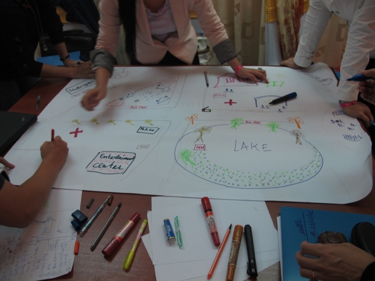 One of the Because I Am A Girl Urban Programme workshops. Photograph: Women In Cities International